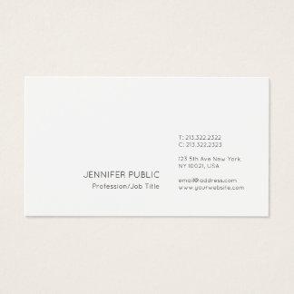 Professional Modern Elegant Minimalist White Plain Business Card
