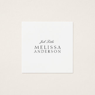 Professional Modern Elegant Minimalistisch Square Business Card