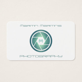 Professional modern futuristic lens cover business card