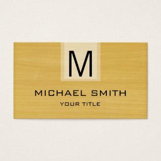 Professional Modern Gold Wood Grain Monogram