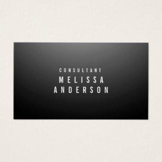 Professional Modern Gradient Black Plain Business Card