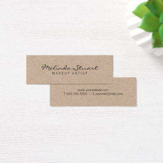 Professional Modern Kraft Paper Mini Business Card