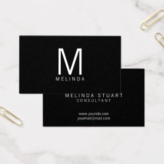 Professional Modern Minimalist Monogram Business Card