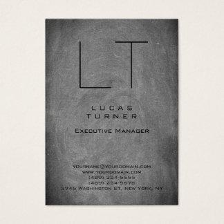Professional Modern Monogram Gray Chalkboard Business Card