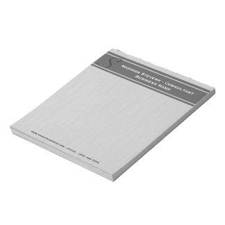 Professional Modern Monogram Grey Notepad