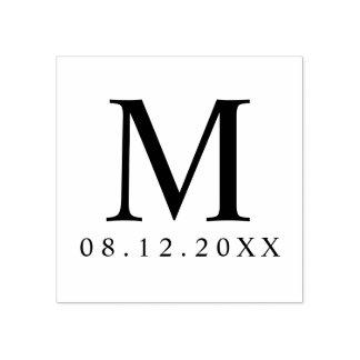 Professional Modern Monogram Wedding Favor Rubber Stamp