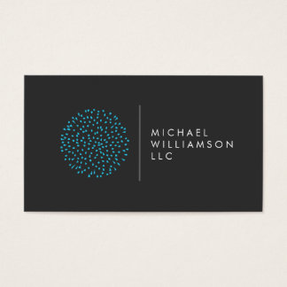 Professional Modern Particles Dots Blue Logo