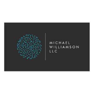 Professional Modern Particles Dots Blue Logo Pack Of Standard Business Cards