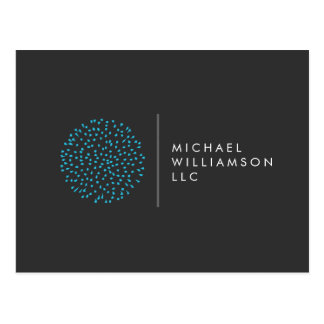 Professional Modern Particles Dots Blue Logo Postcard