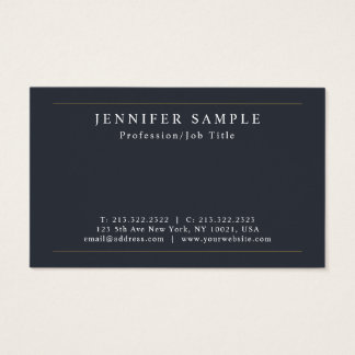 Professional Modern Plain Stylish Sleek Design Business Card