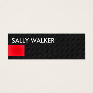 Professional Modern Red mini business cards