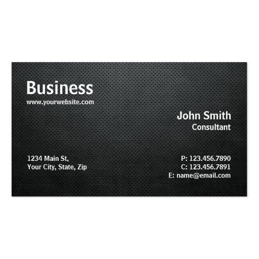 Professional Modern Simple Computer Repair Black Business Card Templates