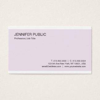 Professional Modern Stylish Color Simple Plain Business Card