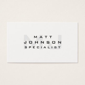 Professional Modern White Business Card