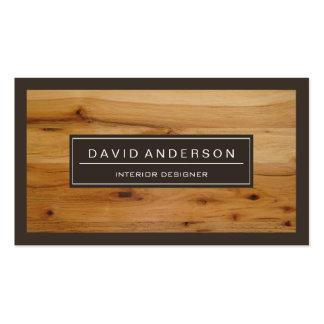 Professional Modern Wood Grain Look Pack Of Standard Business Cards