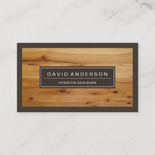 Wooden business cards zazzle au professional modern wood grain look business card reheart Image collections