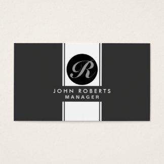 Professional Monogram Elegant Modern Black