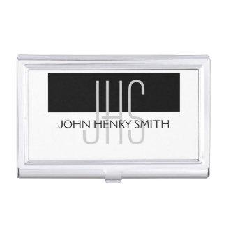 Professional monogram masculine men's business card holder