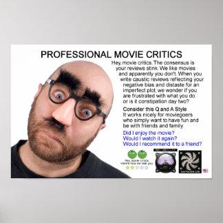 PROFESSIONAL MOVIE CRITICS POSTER