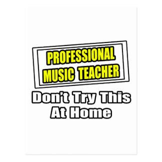 Professional Music Teacher...Joke Postcard