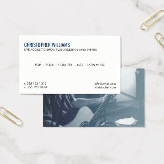 Professional Musician Photo Business Card