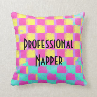 Professional Napper Colorful Checkerboard Pattern Cushion