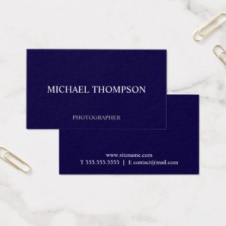Professional Navy Blue Business Card