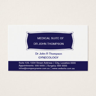 Professional/Navy Blue Business Card