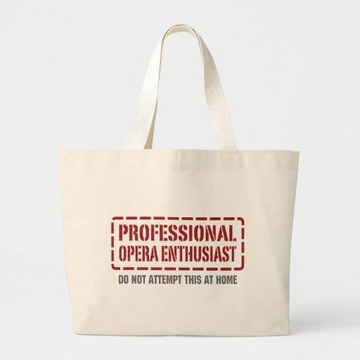 Professional Opera Enthusiast Canvas Bag