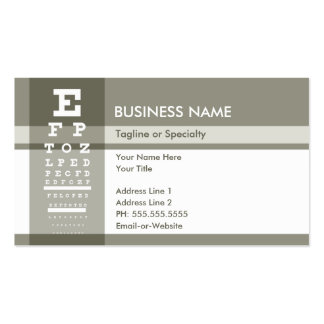 professional optometrist pack of standard business cards