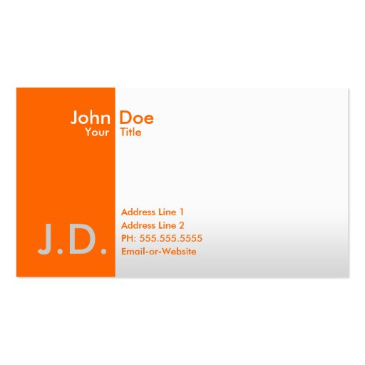 professional oranges business cards