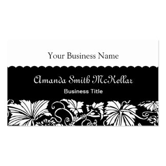 Professional Ornamental Black and White Pack Of Standard Business Cards