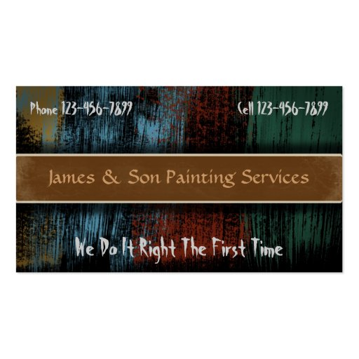 Professional painter contractor business card zazzle for Professional painter business card
