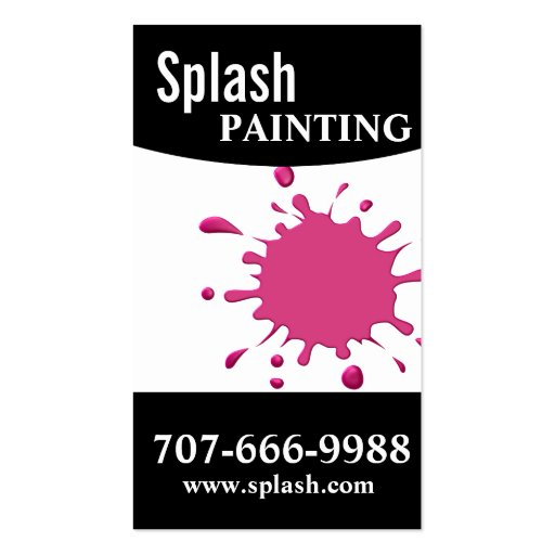 Professional painting painters home improvement zazzle for Home improvement business card template