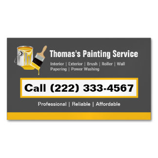 Professional Painting Service Painter Paint Brush Magnetic Business Cards