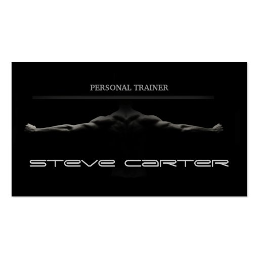 professional Personal Trainer / Bodybuilder Card Business Card Templates