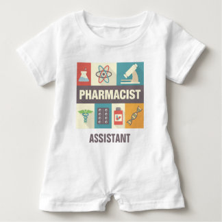 Professional Pharmacist Iconic Designed Baby Bodysuit