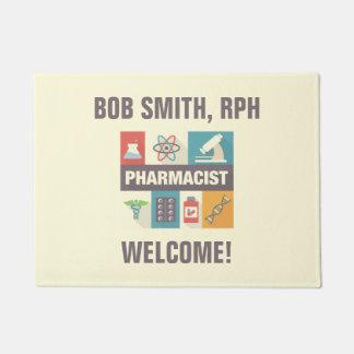 Professional Pharmacist Iconic Designed Doormat