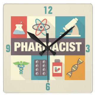 Professional Pharmacist Iconic Designed Square Wall Clock