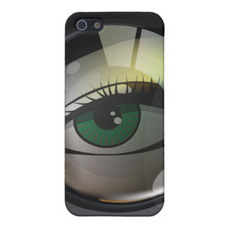 Professional photo lens illustration cover for iPhone 5/5S
