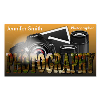 Professional Photographer Camera Lens - Gold Pack Of Standard Business Cards