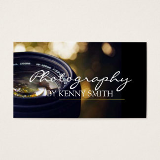 Professional Photographer Camera Lens Portrait Business Card