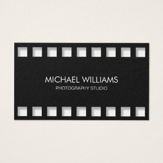 Professional photographer Simple Metal Silver Business Card