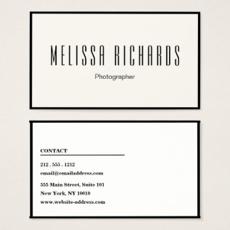 Professional Photography  Creative Business Card