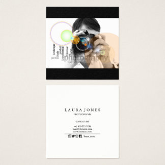 Professional Photography Square Business Card