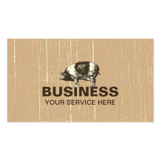 Professional Pig Farm Pack Of Standard Business Cards