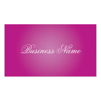Professional Pink Business Cards
