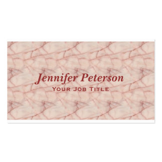 Professional Pink Red Marble Texture Pack Of Standard Business Cards