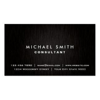 Professional Plain Elegant Black Modern Simple Pack Of Standard Business Cards