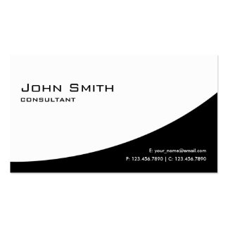 Professional Plain Elegant Modern Black and White Pack Of Standard Business Cards